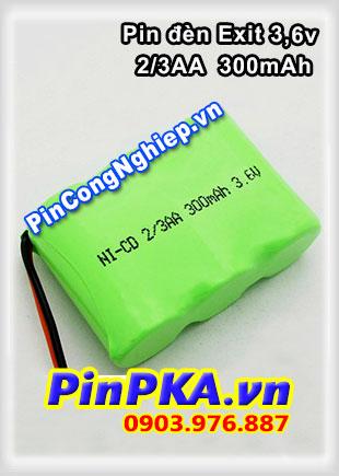 Pin Đèn Exit 3,6V 2/3AA 300mAh